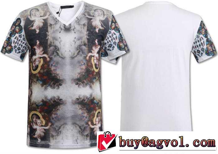 存在感◎ 2014春夏 givenchy ジバンシー vネック半袖tシャツ 2色可選 5467a