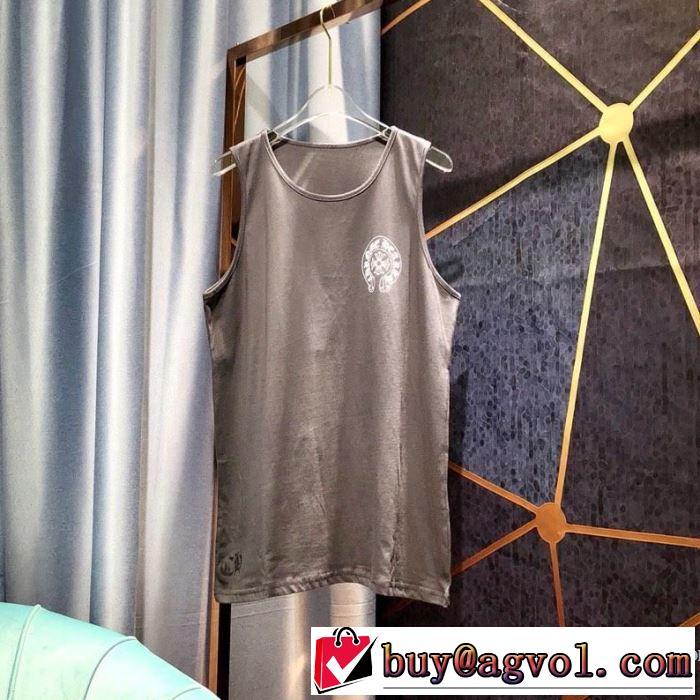 2019春夏の大注目トレンド クロムハーツ CHROME HEARTS 半袖Tシャツ 2色可選 男女兼用 目を引く春夏トップス