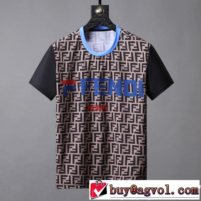 軽やかな素材感 FENDI フェンディ半袖Tシャツ 2色可選 今年の正解大人気新作 快適な着心地