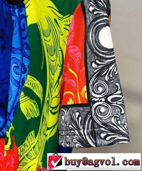 VERSACE  最新先取りおしゃれなロゴ入り  Tシャツ/半袖2019春夏も引き続き人気セールヴェルサーチ