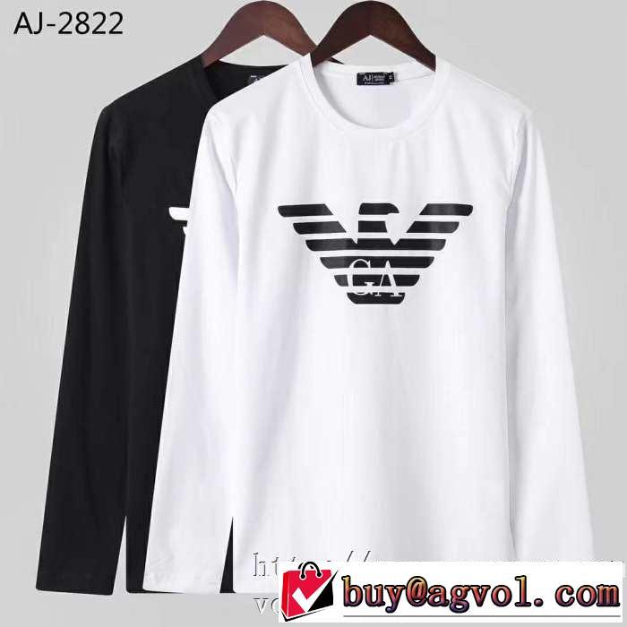 新作アイテムが今年流 2019トレンド秋冬おすすめ安い アルマーニ ARMANI 長袖Tシャツ 2色可選