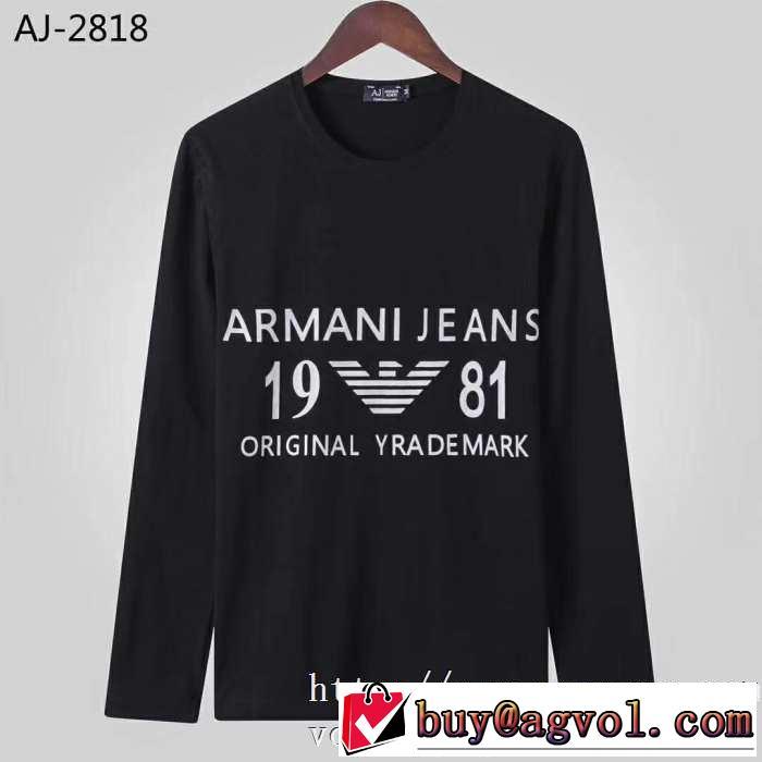 長袖Tシャツ 2色可選 2019秋に注目したい 最新秋冬トレンドをチェック アルマーニ ARMANI