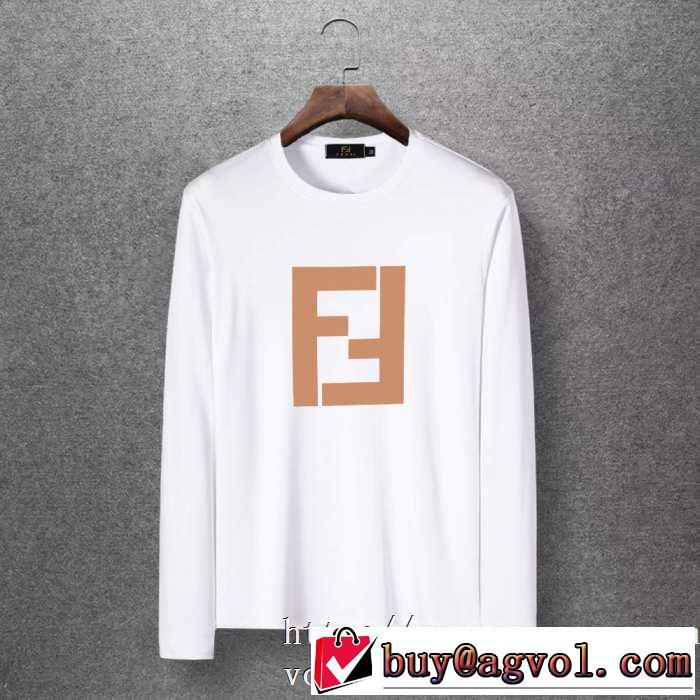 4色可選 長袖Tシャツ 絶対おさえるべきカラーと最新 2020秋冬流行ファション  フェンディ FENDI