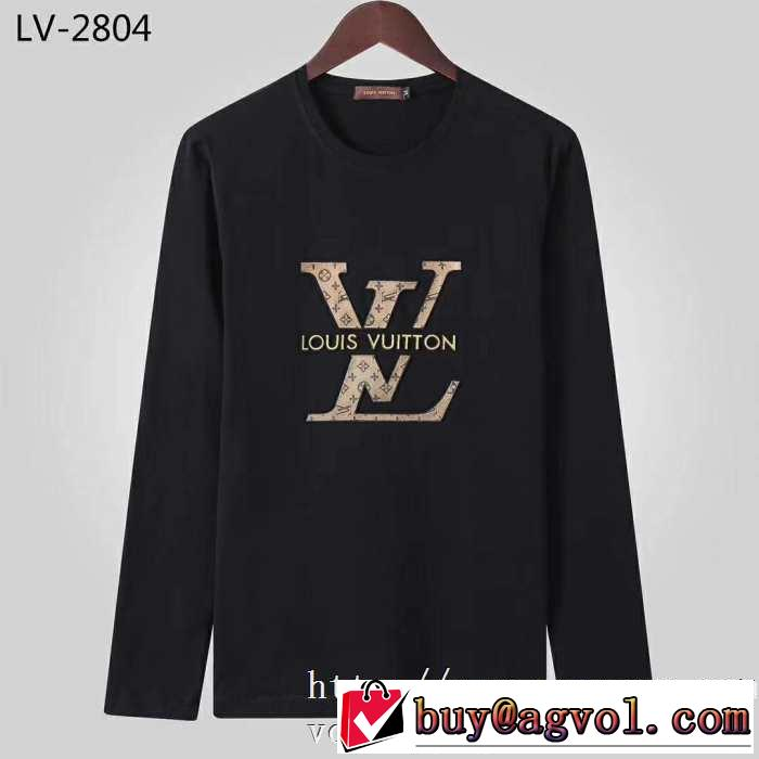 2019秋冬トレンドデザイン 人気ファッション雑誌でも掲載 ルイ ヴィトン LOUIS VUITTON 長袖Tシャツ 2色可選