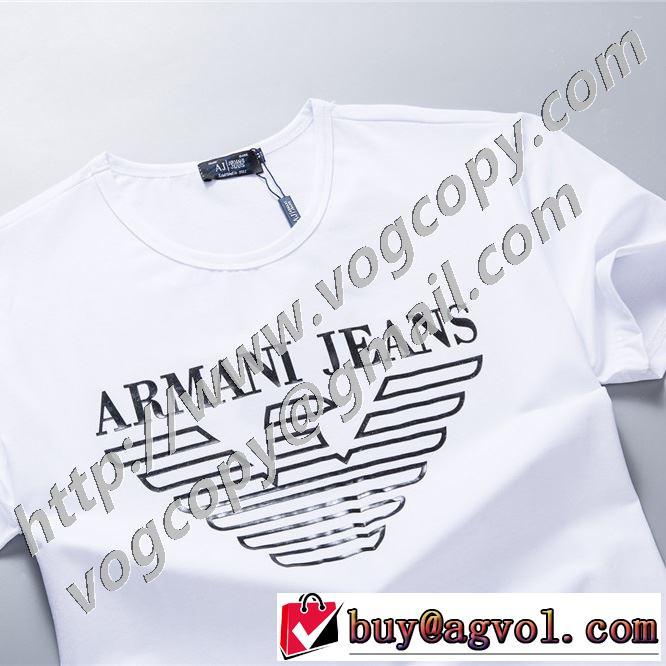 2色可選 今季の主力おすすめ 半袖Tシャツ 飽きもこないデザイン アルマーニ 人気は今季も健在  ARMANI