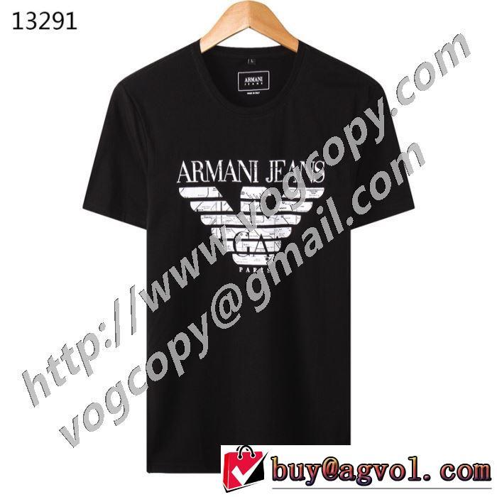 本当に嬉しいアイテム アルマーニ多色可選 ARMANI 差をつけたい人にもおすすめ 半袖Tシャツ 程よい最新作