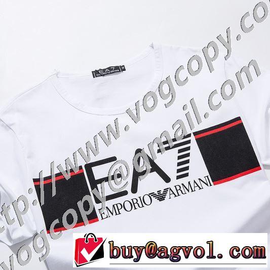 2色可選 半袖Tシャツ 価格も嬉しいアイテム アルマーニ ARMANI 通勤通学どちらでも使え