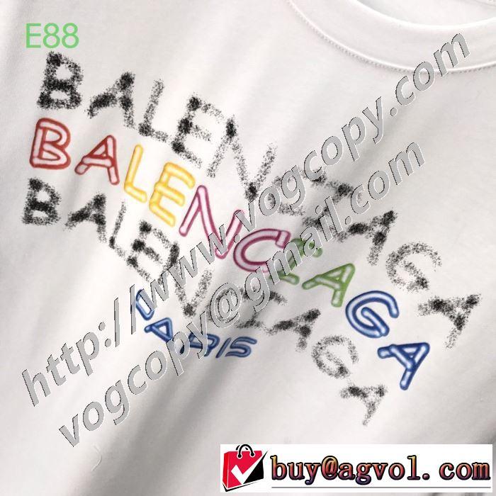 2色可選 海外でも人気なブランド バレンシアガ BALENCIAGA 2020年春限定 半袖Tシャツ 海外大人気