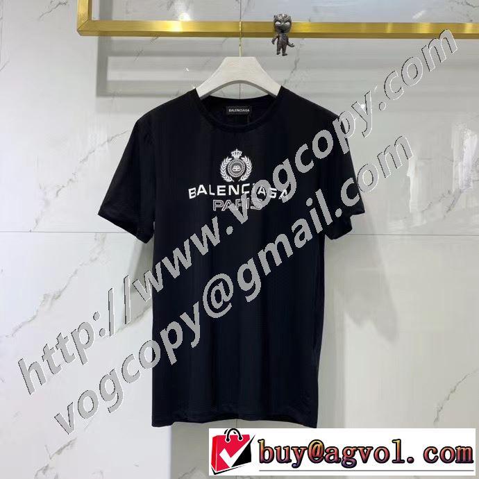 バレンシアガ 2色可選 絶対に見逃せない BALENCIAGA 累積売上総額第1位 半袖Tシャツ 20SS☆送料込