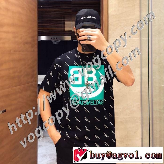 バレンシアガ 2色可選 上品に着こなせ BALENCIAGA 注目を集めてる 半袖Tシャツ 海外限定ライン