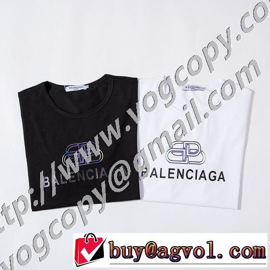 2020年春夏コレクション 半袖Tシャツ 2色可選 注目されている バレンシアガ BALENCIAGA 最先端のスタイル