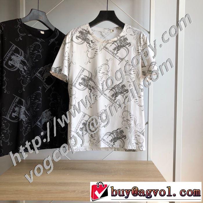 ストリート系に大人気 2色可選 バーバリー BURBERRY デザインお洒落 半袖Tシャツ 最新の入荷商品