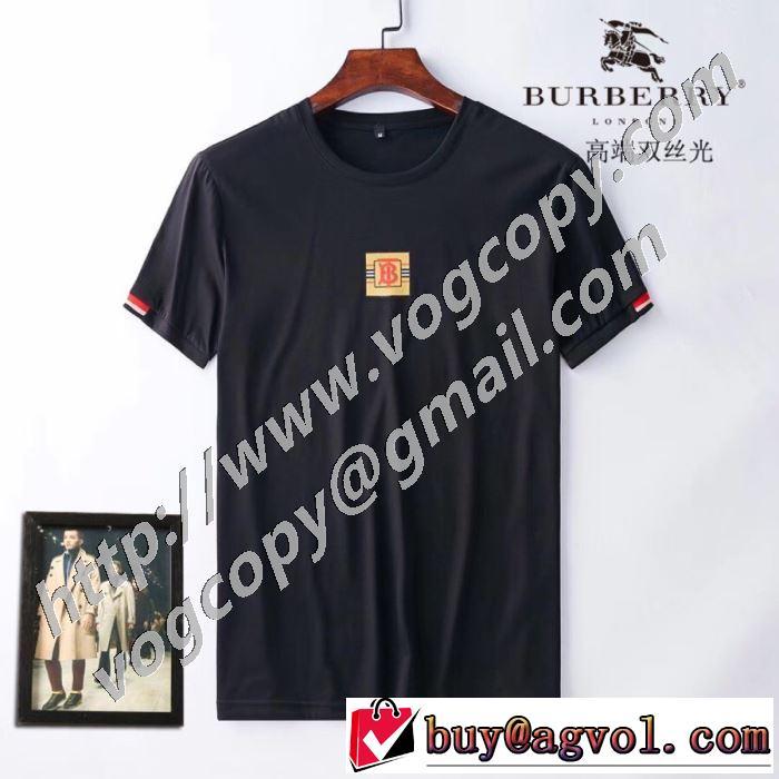 バーバリー 3色可選 ストリート系に大人気 BURBERRYデザインお洒落  半袖Tシャツ 最新の入荷商品