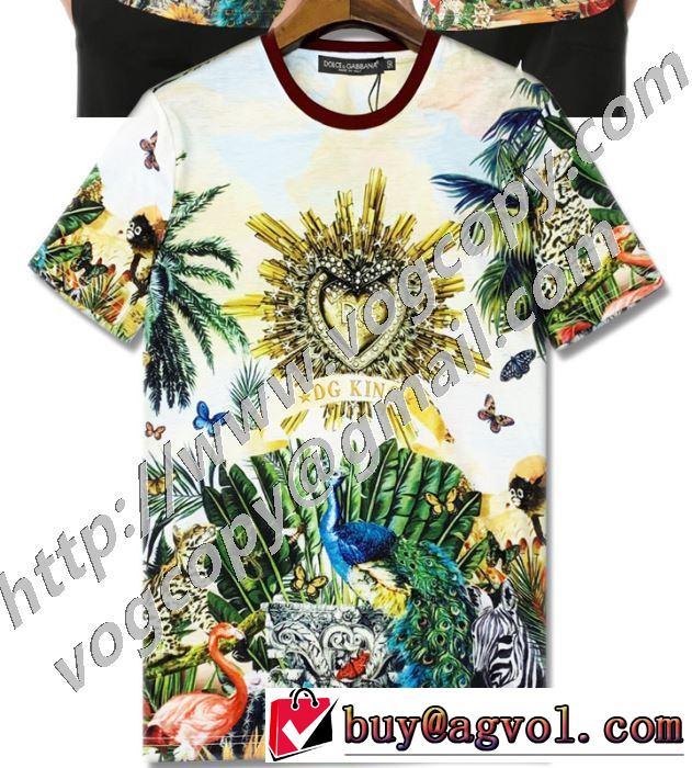 大人気のブランドの新作 半袖Tシャツ 普段のファッション ドルチェ&ガッバーナ Dolce&Gabbana