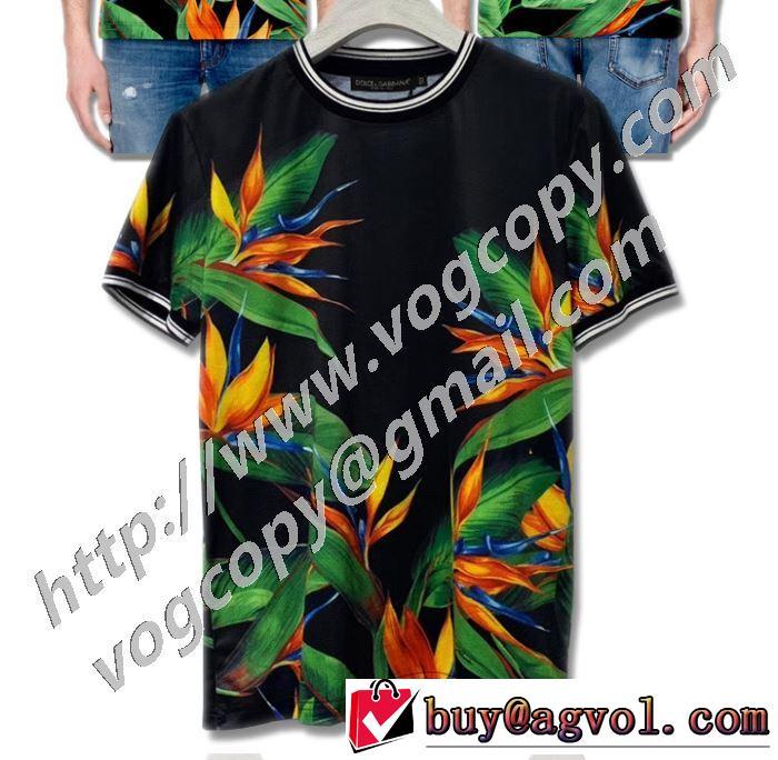2色可選 確定となる上品 半袖Tシャツ 取り入れやすい ドルチェ&ガッバーナ Dolce&Gabbana