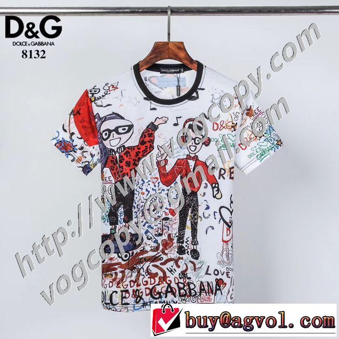 2020話題の商品 2色可選 ドルチェ&ガッバーナ Dolce&Gabbana 飽きもこないデザイン 半袖Tシャツ