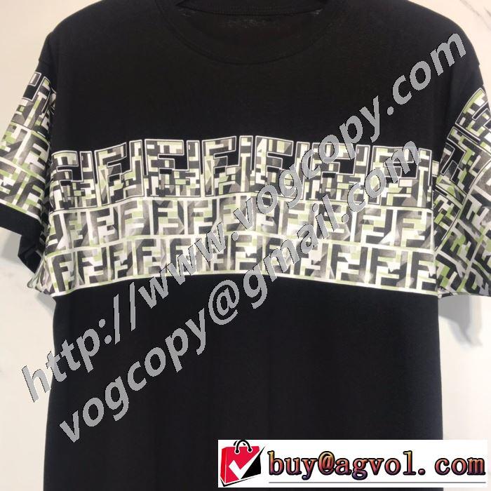 ランキング1位 2色可選  フェンディ FENDI 愛らしい春の新作 半袖Tシャツ 2020話題の商品