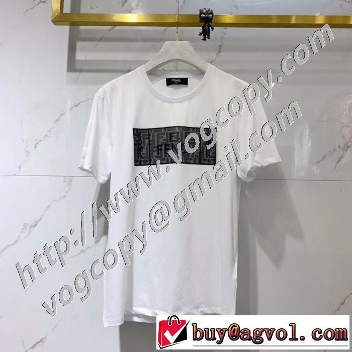 驚きのプライス 半袖Tシャツ 大人の新作こそ フェンディ 2色可選 FENDI おしゃれに大人の必見