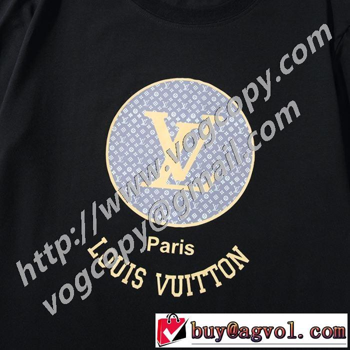 ルイ ヴィトン大幅割引価格 2色可選  LOUIS VUITTON 今年の春トレンド 半袖Tシャツ 大人の新作こそ