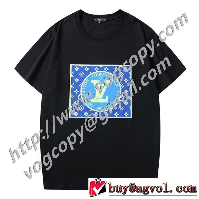 おしゃれに大人の必見 2色可選 半袖Tシャツ 驚きのプライス ルイ ヴィトン LOUIS VUITTON