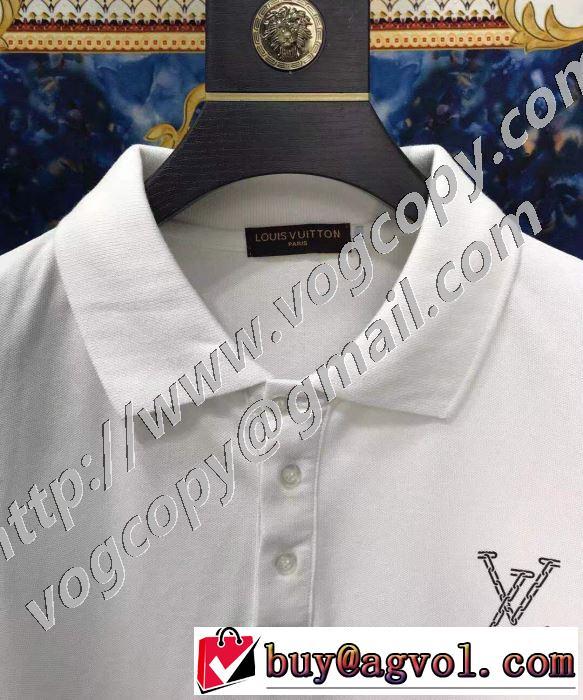シンプルなファッション 2色可選 半袖Tシャツ この時期の一番人気は ルイ ヴィトン LOUIS VUITTON