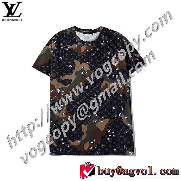 やはり人気ブランド ルイ ヴィトン2色可選  LOUIS VUITTON お値段もお求めやすい 半袖Tシャツ