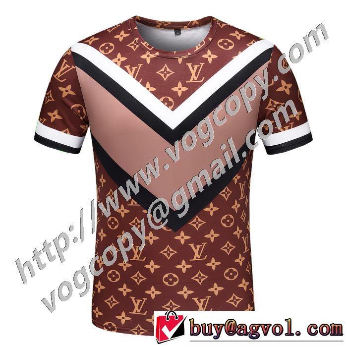 春夏コレクション新品 半袖Tシャツ 差をつけたい人にもおすすめ ルイ ヴィトン LOUIS VUITTON