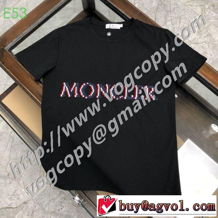 どのアイテムも手頃な価格で 多色可選 半袖Tシャツ ストリート系に大人気 モンクレール 2020春新作 MONCLER