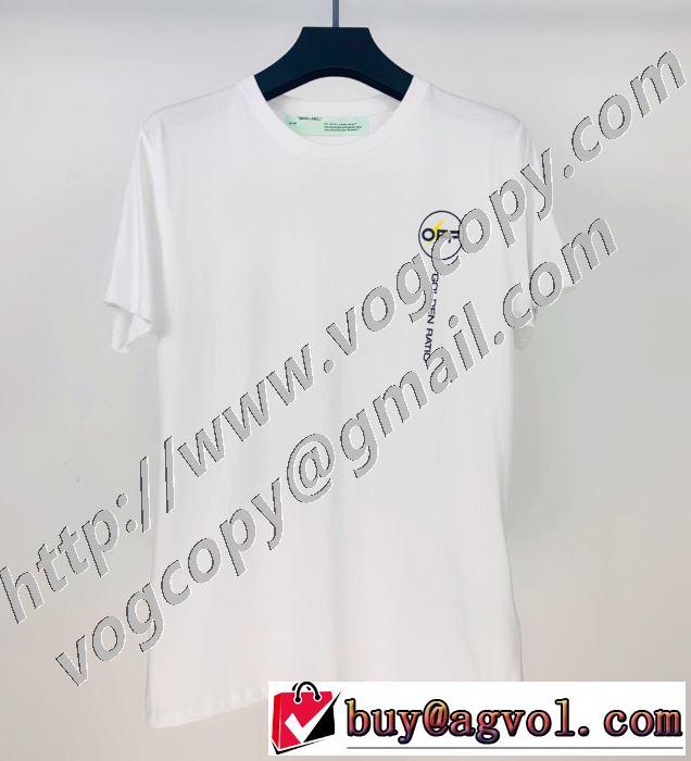 Off-White エレガントな雰囲気 オフホワイト2色可選  半袖Tシャツ おしゃれな人が持っている