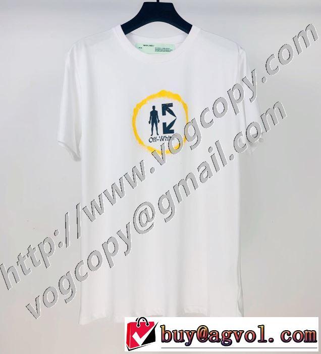 オススメのアイテムを見逃すな Off-White2色可選  オフホワイト コーデの完成度を高める 半袖Tシャツ