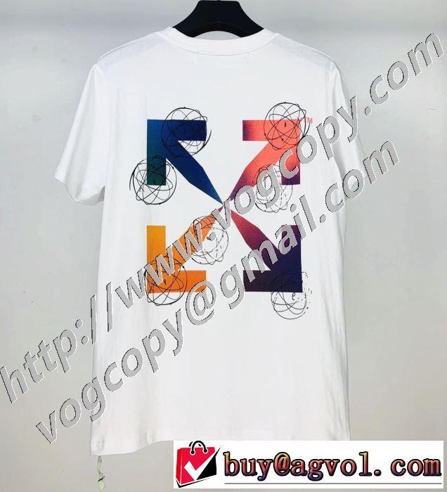 新作が見逃せない 2色可選 半袖Tシャツ 限定色がお目見え Off-White オフホワイト 一目惚れ級に