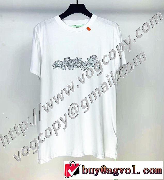 2020年春夏コレクション 半袖Tシャツ 3色可選 限定品が登場 Off-White オフホワイト 最先端のスタイル