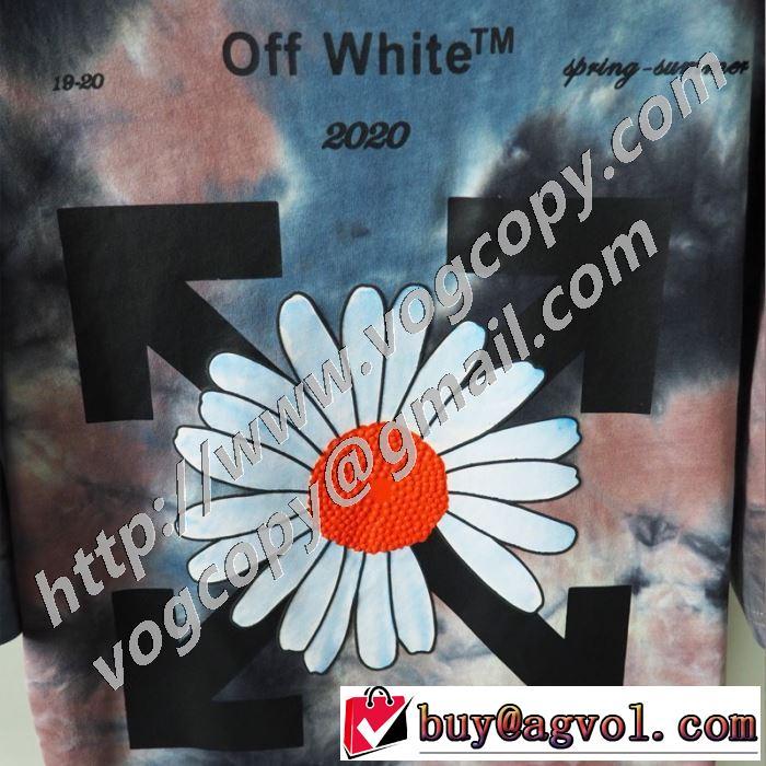 オフホワイト 限定アイテム特集 Off-White やはり人気ブランド  半袖Tシャツ お値段もお求めやすい