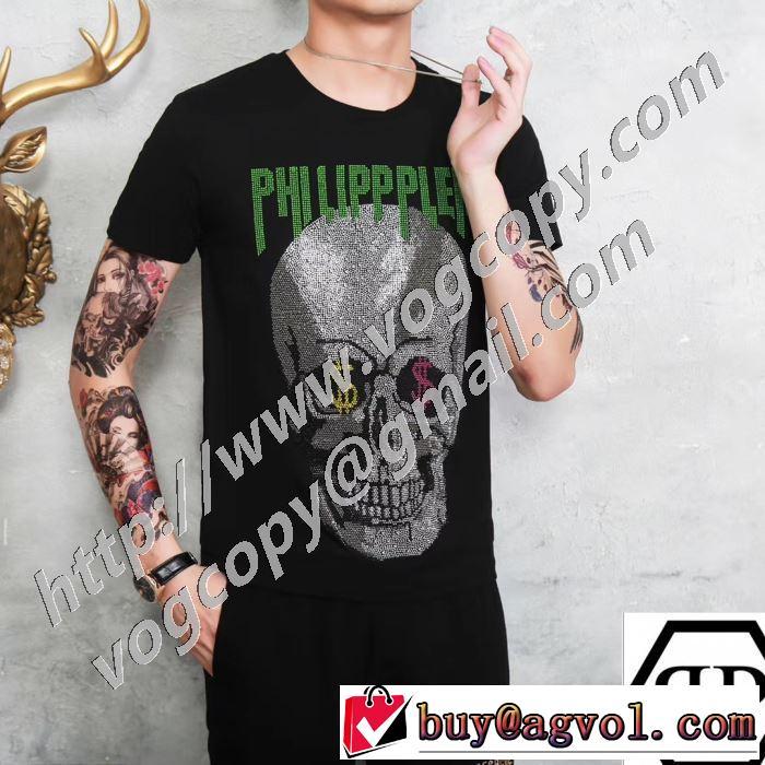 安心の実績 半袖Tシャツ 2色可選 愛らしい春の新作 フィリッププレイン 2020話題の商品 PHILIPP PLEIN