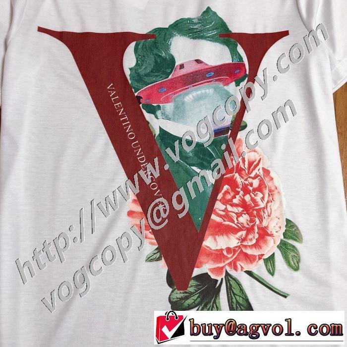 春夏コレクション新品  2色可選 半袖Tシャツ 差をつけたい人にもおすすめ ヴァレンティノ VALENTINO