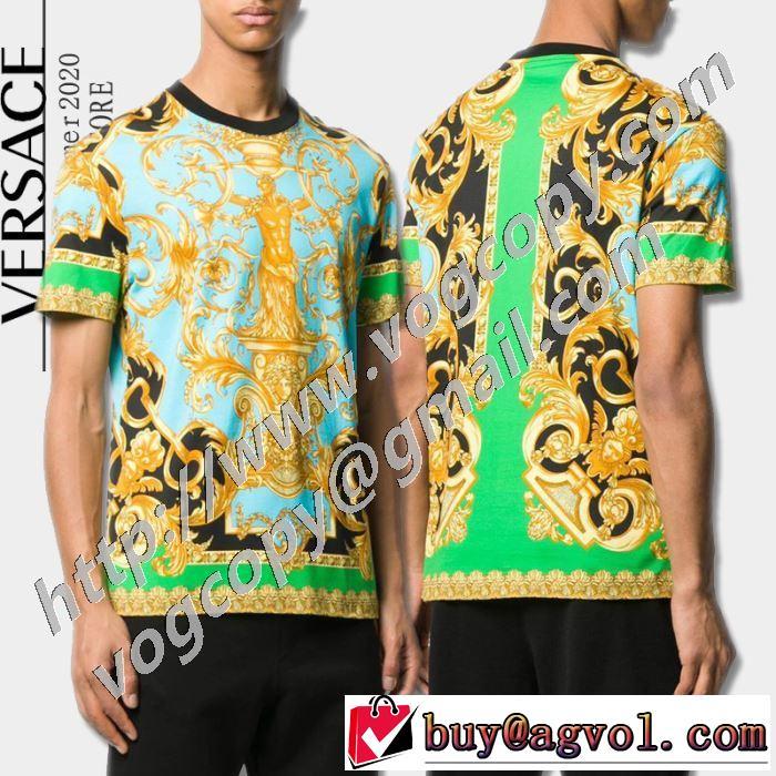 人気ランキング最高 ヴェルサーチ VERSACE 一目惚れ級に 半袖Tシャツ 有名ブランドです