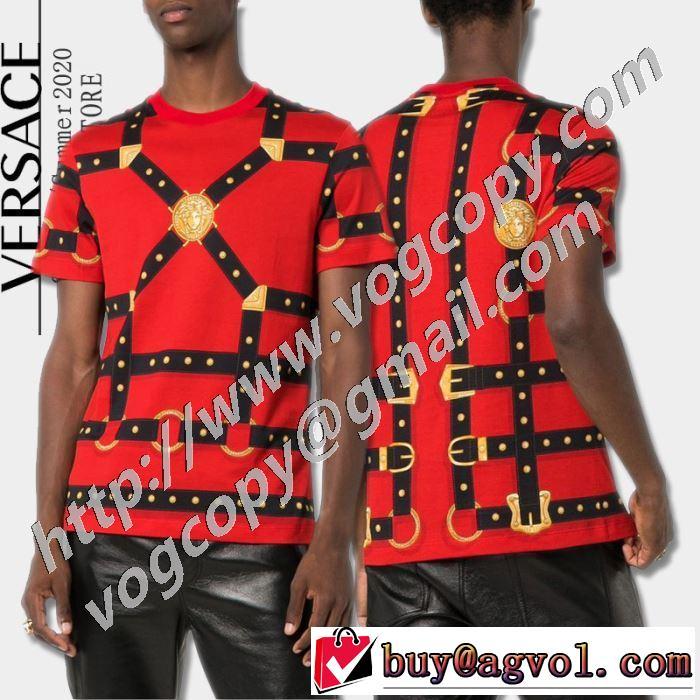 オススメのアイテムを見逃すな 半袖Tシャツ おしゃれな人が持っている ヴェルサーチ VERSACE