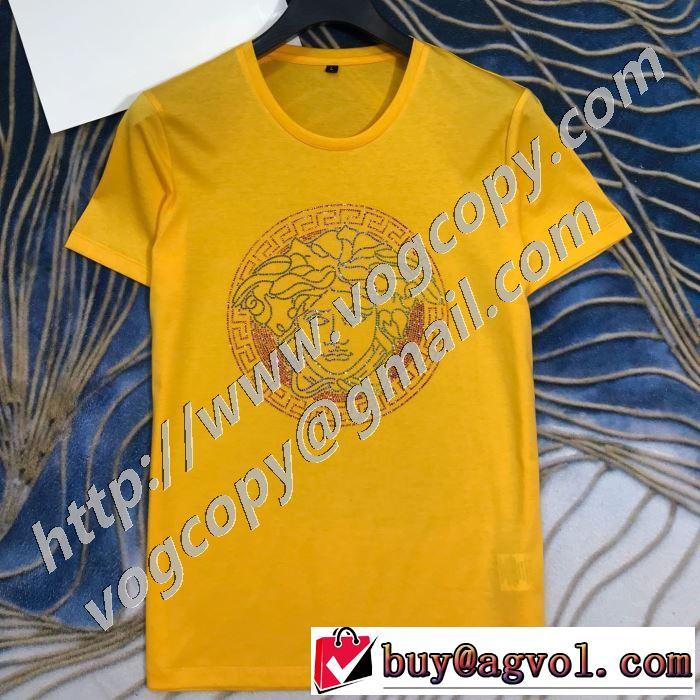 愛らしい春の新作 3色可選 ヴェルサーチ VERSACE 2020話題の商品 半袖Tシャツ 安心の実績