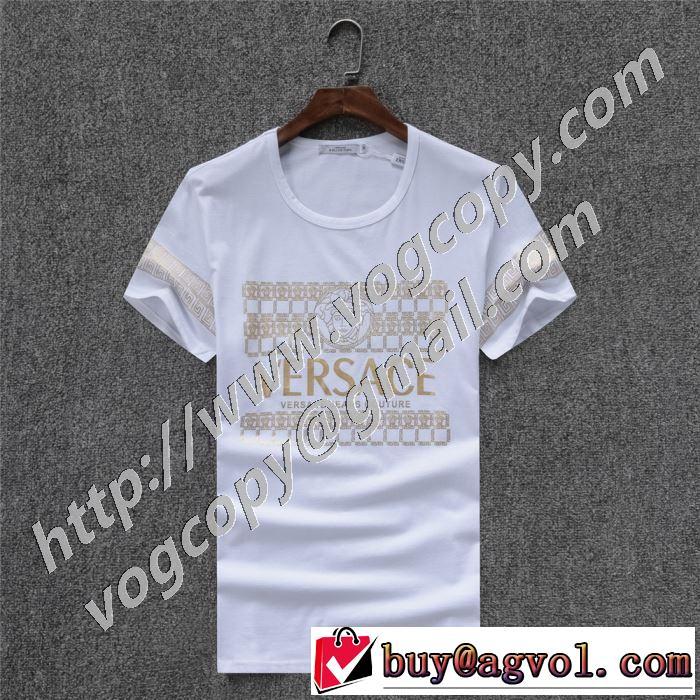 驚きのプライス ヴェルサーチ2色可選  VERSACE おしゃれに大人の必見 半袖Tシャツ 絶対に見逃せない
