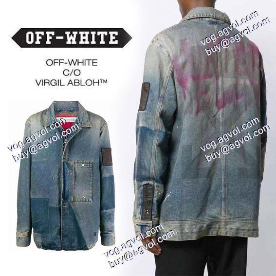 デニムジャケット 2色可選 2020秋冬 落ち着いた感覚 Off-White オフホワイトコピーブランド