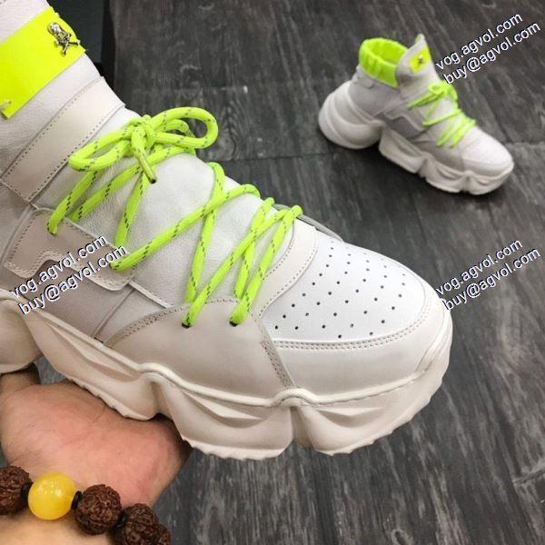 モデル大絶賛フィリッププレイン2色可選 PHILIPP?PLEIN 肌触りのいい 2020春夏新作スニーカー/靴