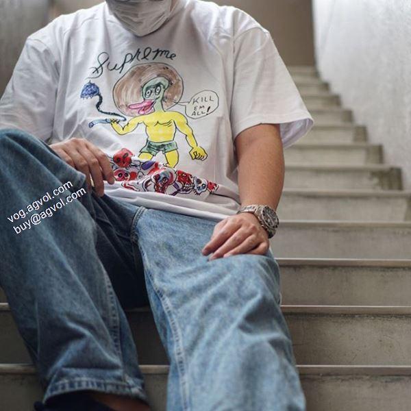 シュプリーム SUPREME Supreme 20ss Daniel Johnston Kill Em All Tee 2色可選 2020春夏新作 Tシャツ/半袖
