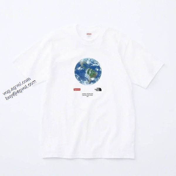 Supreme x The North Face One World Tee  3色可選 シュプリーム SUPREME  2020春夏新作 Tシャツ/半袖