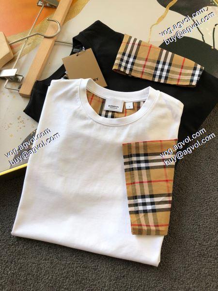 バーバリー極上の着心地 BURBERRY 2020春夏新作 Tシャツ/半袖  2色可選