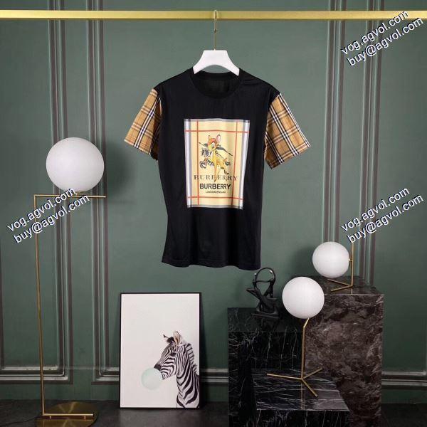 存在感のあるTシャツ/半袖  2色可選  バーバリー BURBERRY 2020春夏新作