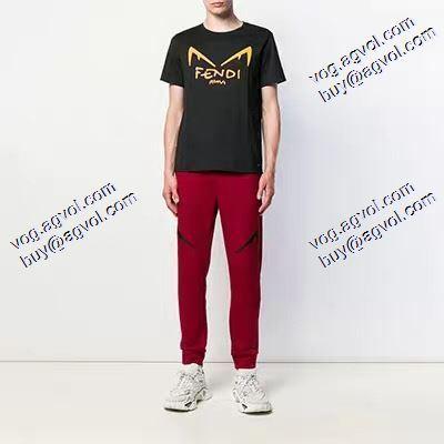 フェンディ大人キレイに仕立てる FENDI Tシャツ/半袖  2020春夏新作 2色可選 追跡付/関税無