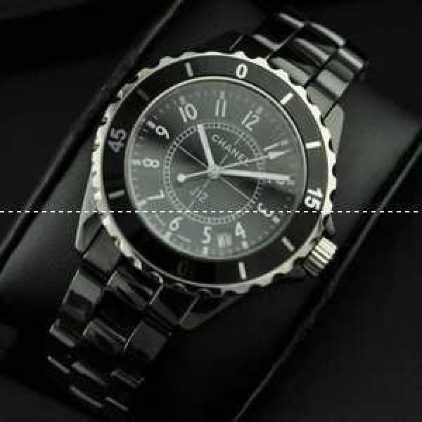 CHANEL シャネル 腕時計 J12 メンズ腕時計 日本製クオーツ 黒文字盤 セラミック