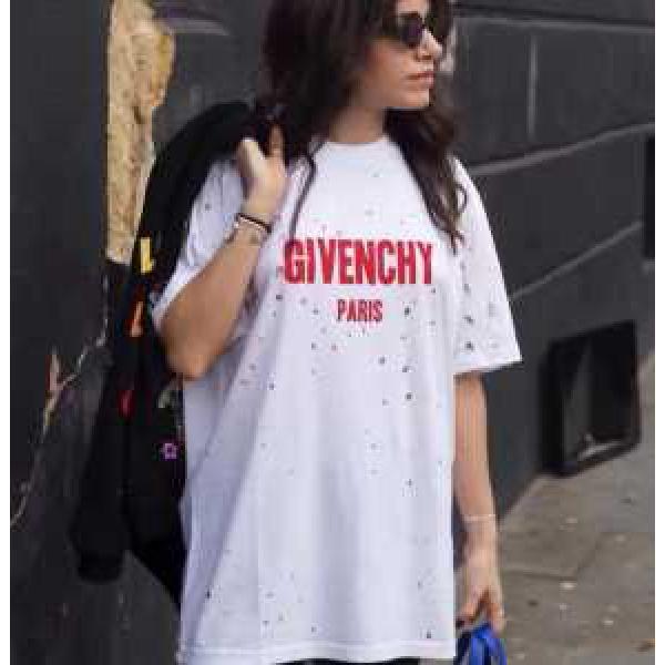 超人気美品◆ ジバンシィ GIVENCHY 半袖Tシャツ 2色可選 お洒落に魅せる 男女兼用 2017春夏 穴傷