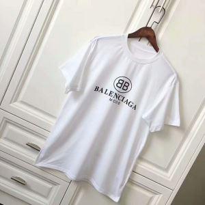 スタイルアップ効果 半袖Tシャツ バレンシアガ BALENCIAGA 2021 首胸ロゴ
