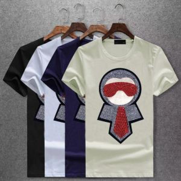 4色可選 フェンディ FENDI 2018年春夏入荷 ネット販売限定 半袖Tシャツ 海外限定アイテム